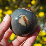 Polychrome Jasper Carved Crystal Sphere