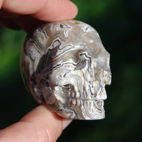 Laguna Lace Agate Carved Crystal Skull