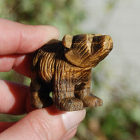 Tiger's Eye Carved Crystal Bear