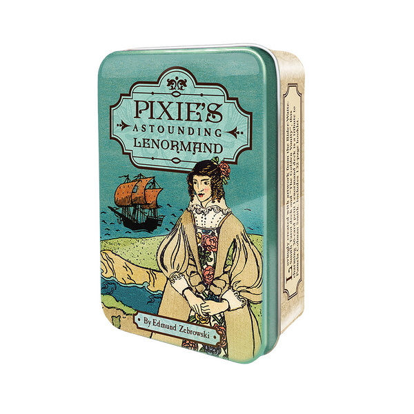 Pixie's Astounding Lenormand Oracle Card Deck and Book in Tin Box Tarot