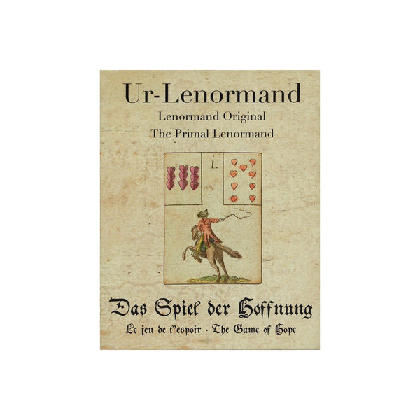 1799 Antique Reproduction Primal Lenormand The Game of Hope Cartomancy