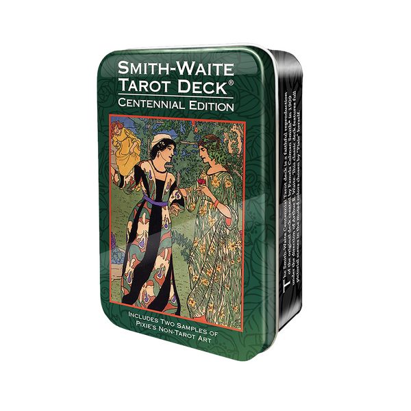 Smith-Waite Centennial Tarot Card Deck and Book in Tin Box