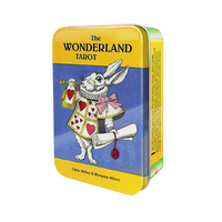 The Wonderland Tarot Card Deck and Book in Tin Box by Chris and Morgana Abbey Alice in Wonderland Tarot