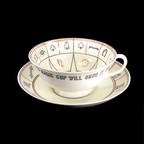 Antique Aynsley NELROS Cup of Knowledge Fortune Telling Teacup circa 1905