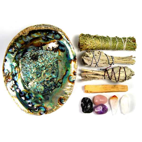 House Blessing Kit Crystal and Smudge Stick Bundle Set