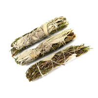 Rosemary and California White Spirit Sage Smudge Stick