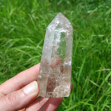 Pale Smoky Quartz Polished Crystal Point Self Standing Tower from Brazil 140g 3.25""