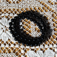 Black Onyx Beaded Power Bracelet 8mm Natural Gemstone Beads