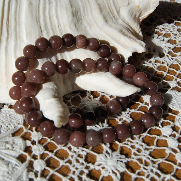 Purple Aventurine Crystal Beaded Power Bracelet 8mm Natural Gemstone Beads