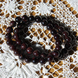 Garnet Beaded Power Bracelet 8mm Natural Gemstone Beads  Healing Crystals