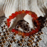 Carnelian Beaded Power Bracelet 8mm Natural Gemstone Beads