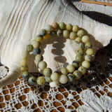 Serpentine Beaded Power Bracelet 8mm Natural Gemstone Beads
