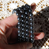 Hematite Beaded Power Bracelet 8mm Natural Gemstone Beads