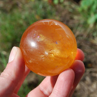 Honey Calcite Crystal Spheres Ball