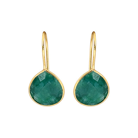 Alisha Earrings Emerald