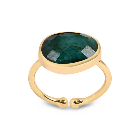 Valentina Gold Ring - Emerald