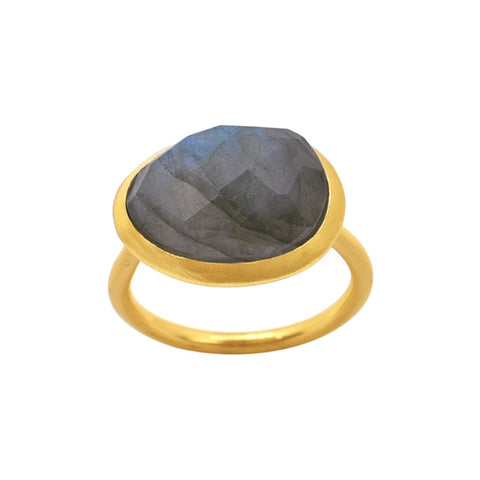Demi Gold Ring - Labradorite