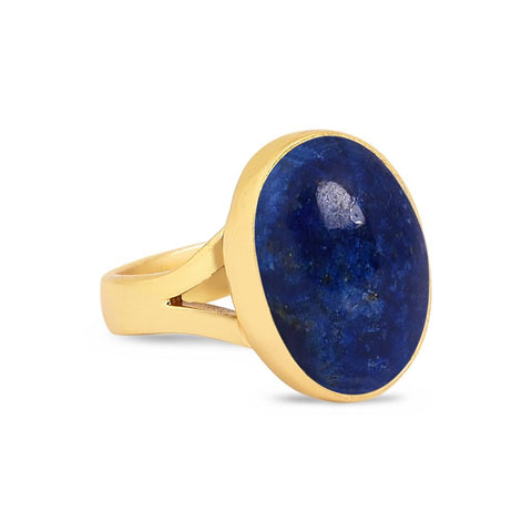 Jasmine Gold Ring - Lapis