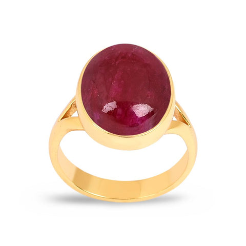 Jasmine Gold Ring - Ruby