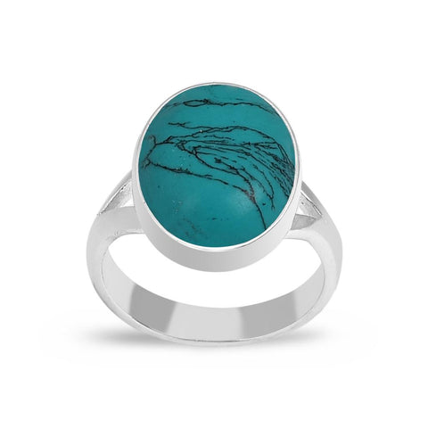 Jasmine Silver Ring - Turquoise
