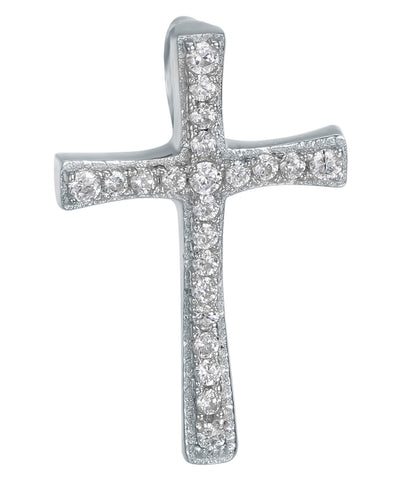 Sterling Silver CZ Cross on Chain