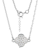 Sterling Silver Moroccan CZ Flower Necklace - SOLD OUT