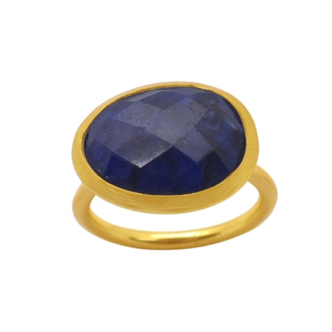Demi Gold Ring - Sapphire