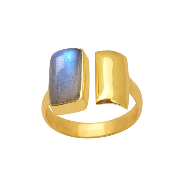 Urban Labradorite Ring Gold