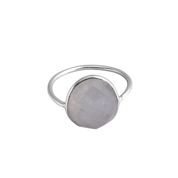 Gina Moonstone Ring Silver