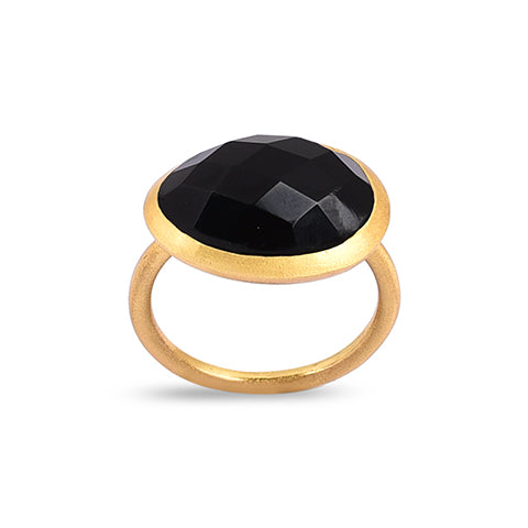 Demi Gold Ring - Onyx