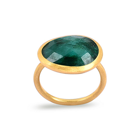 Demi Gold Ring - Emerald
