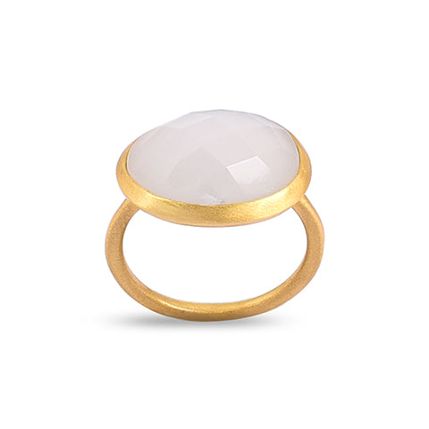 Demi Gold Ring - Moonstone