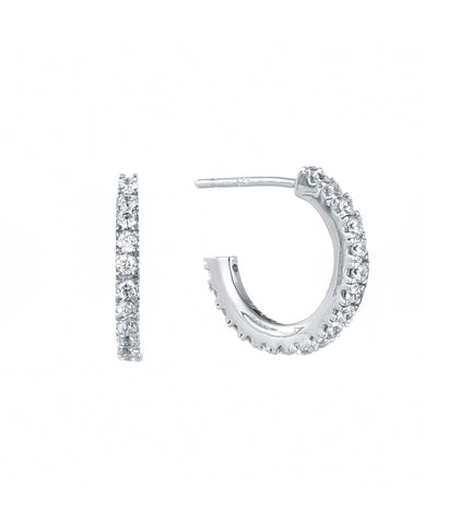 Sterling Silver Classic Luxe CZ Hoop - SOLD OUT