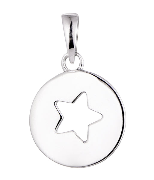 Sterling Silver Star Cut Out Pendant
