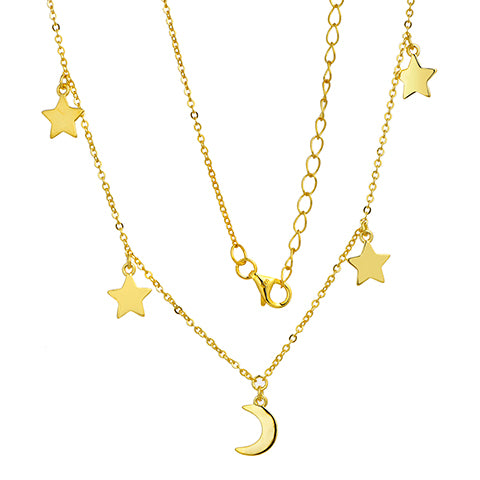 Cosmic Fever Necklace Gold