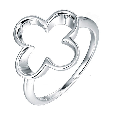 Sterling Silver Moroccan Clover Ring