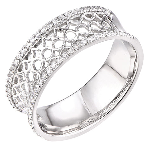 Sterling Silver Moroccan Statement Ring