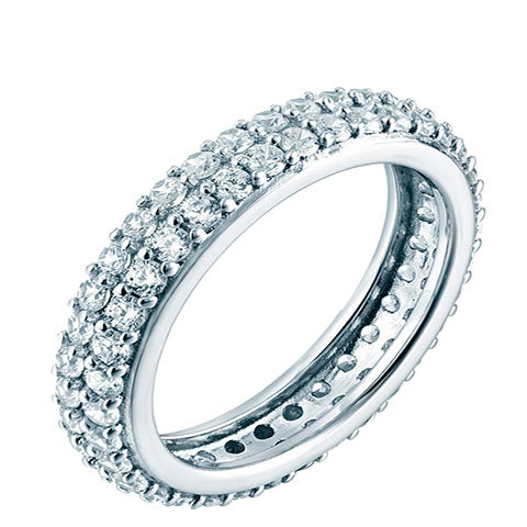 Pave Dress Ring Silver