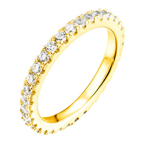 Endless CZ Claw Ring Gold