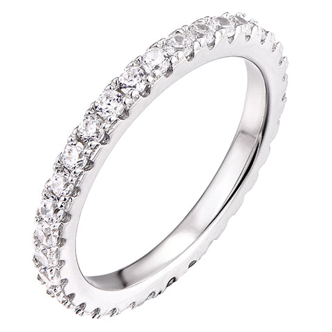 Endless CZ Claw Ring Silver