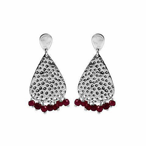 Gypsy Goddess Ruby Earring Silver