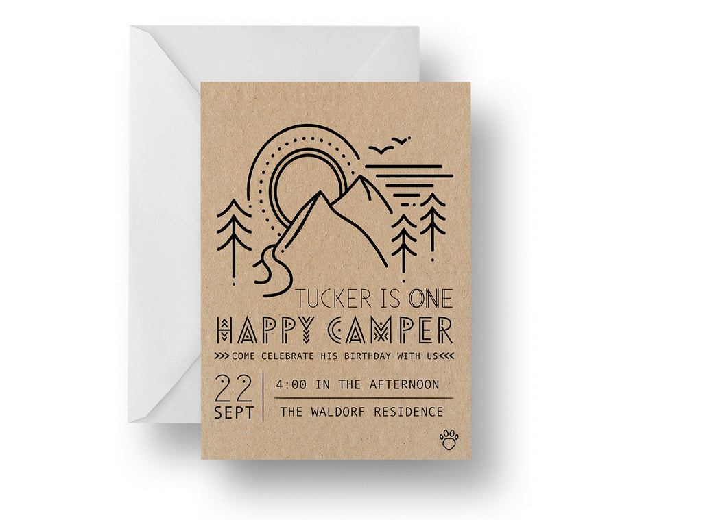 Happy Camper Invitation