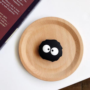 Accessories Black Carbon Ball Cute Cartoon Ring Holder Stand