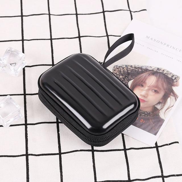 Accessories Black Colorful Earphone Zipper Case