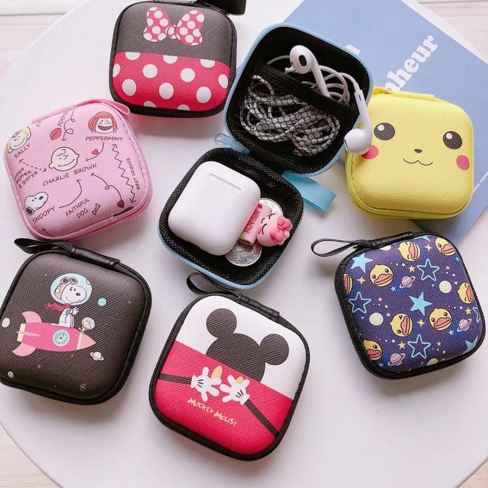 Accessories Cartoon Earphone Zipper Case