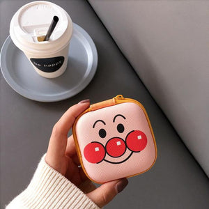 Accessories Cartoon Face Cute Cartoon Earphone Zipper Case
