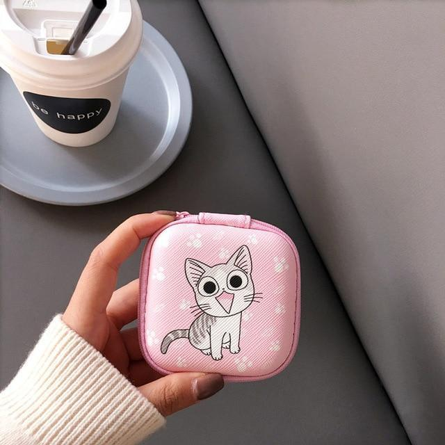 Accessories Cat Cute Cartoon Earphone Zipper Case