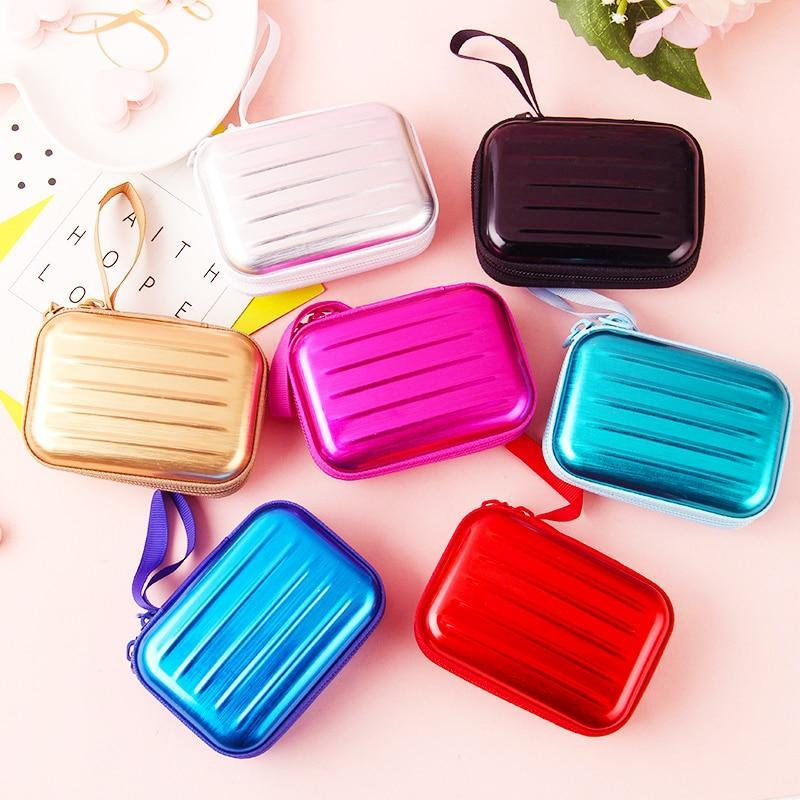 Accessories Colorful Earphone Zipper Case