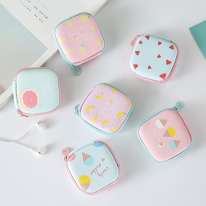 Accessories Cute Earphone Zipper Case