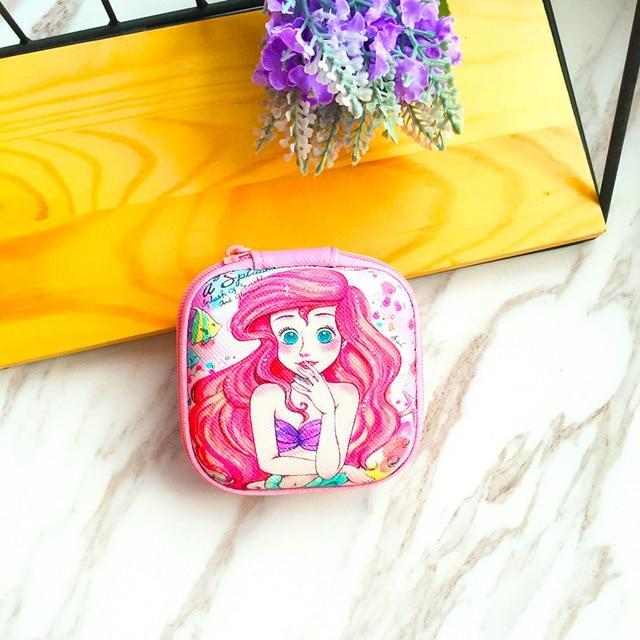 Accessories Little Mermaid Cute Cartoon Earphone Zipper Case